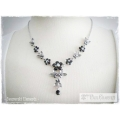 Mme Paul Charvet - Swarovski Elements Collier - Jet / Jet Hematite